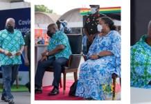Nana Addo Dankwa Akufo-Addo and Rebecca Akufo-Addo takes covid-19 vaccine