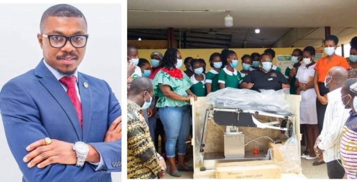 Dr. Prince Hamid Armah PhD donates theatre operating bed to Kwesimintsim Hospital