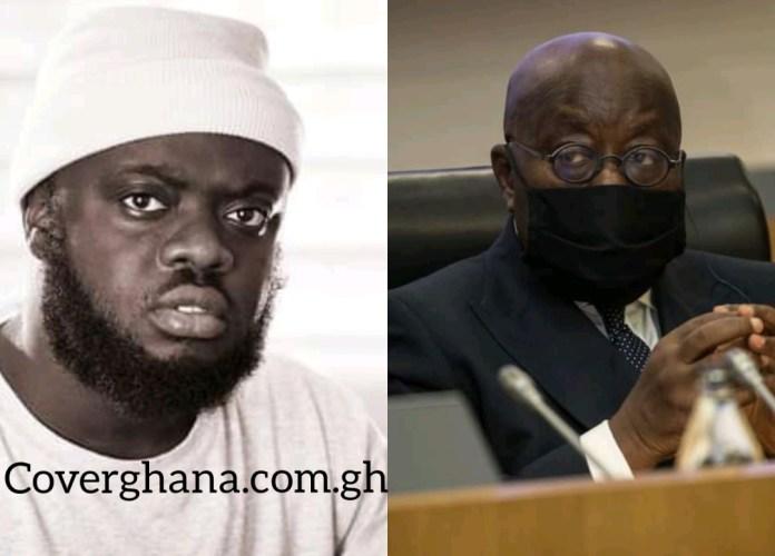 Kwadwo Sheldon insults President Nana Addo-Dankwa Akufo-Addo