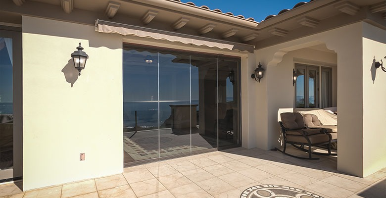 Glass doors on a luxurious residential home