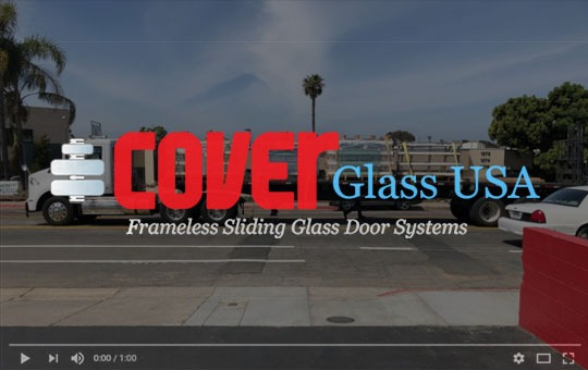 Video thumbnail of truck hauling Cover Glass doors