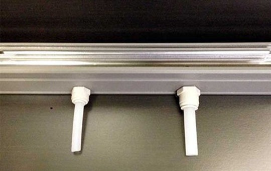 drain pipes for glass doors