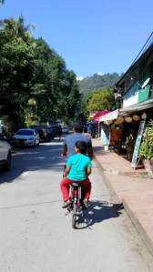 Our mode of transport in Luang Prabang