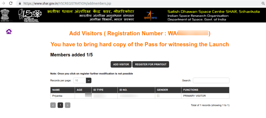 Add visitor details
