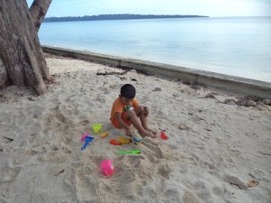 Sand play at Dolphin Resort