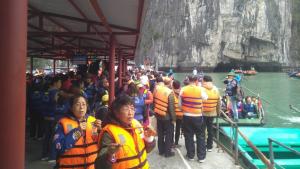 Crowd waiting for Kayaking / Boating