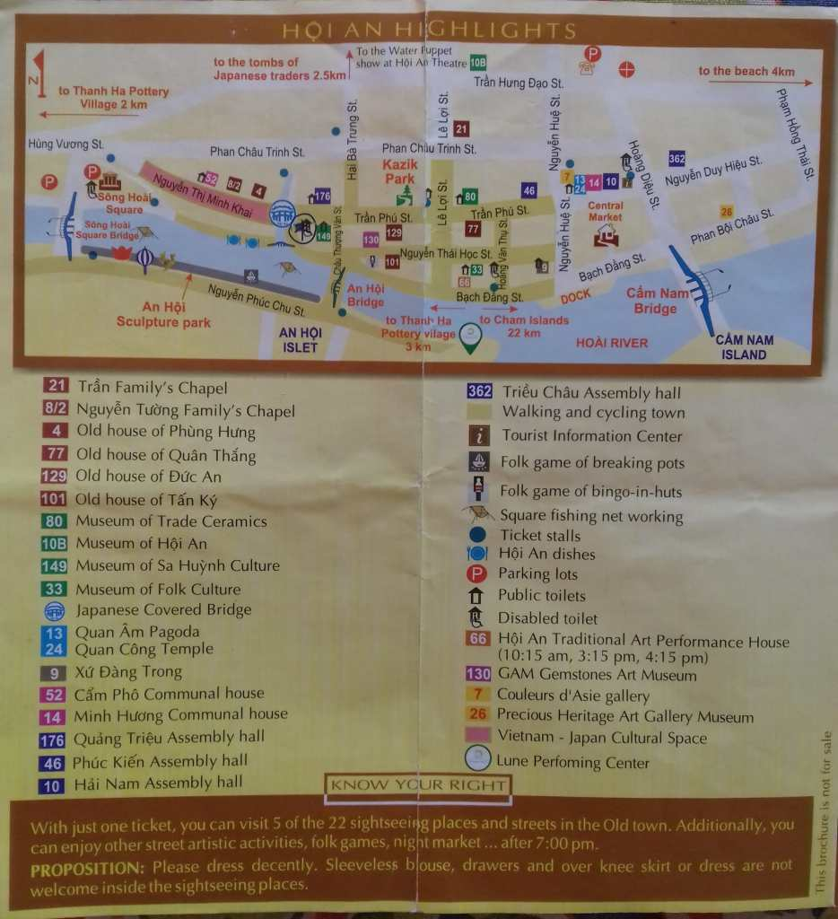 Hoi An Old Town Tourist Map