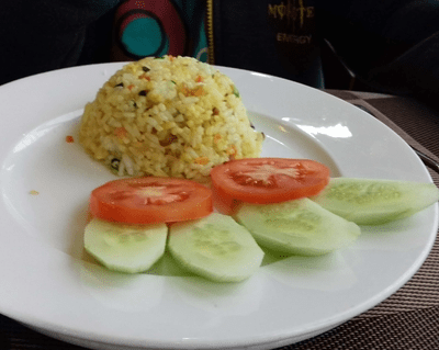 Veg fried rice on Lavender Cruise, Halong Bay