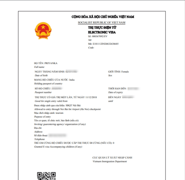 Approved Vietnam Visa