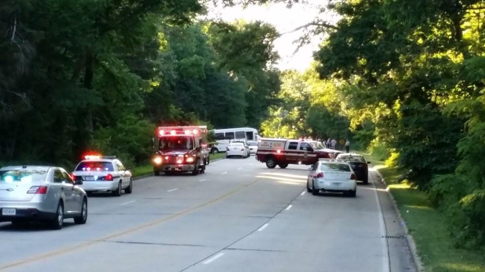 Scene of GW Parkway crash