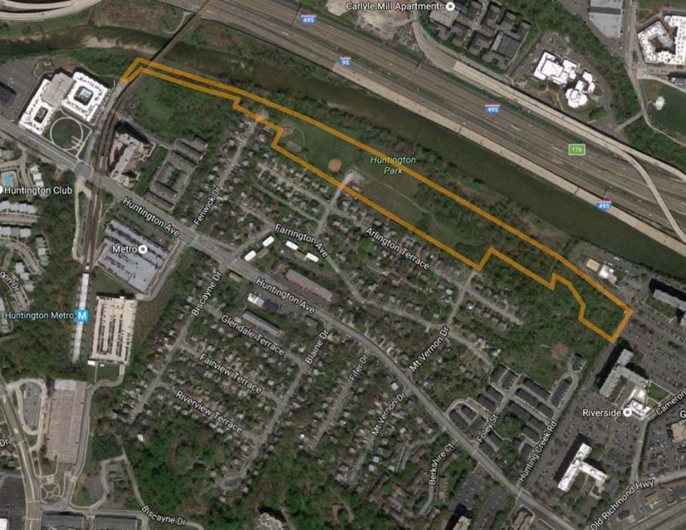 overhead map of levee site