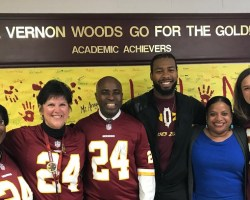 Josh Norman and Mount Vernon Woods staff