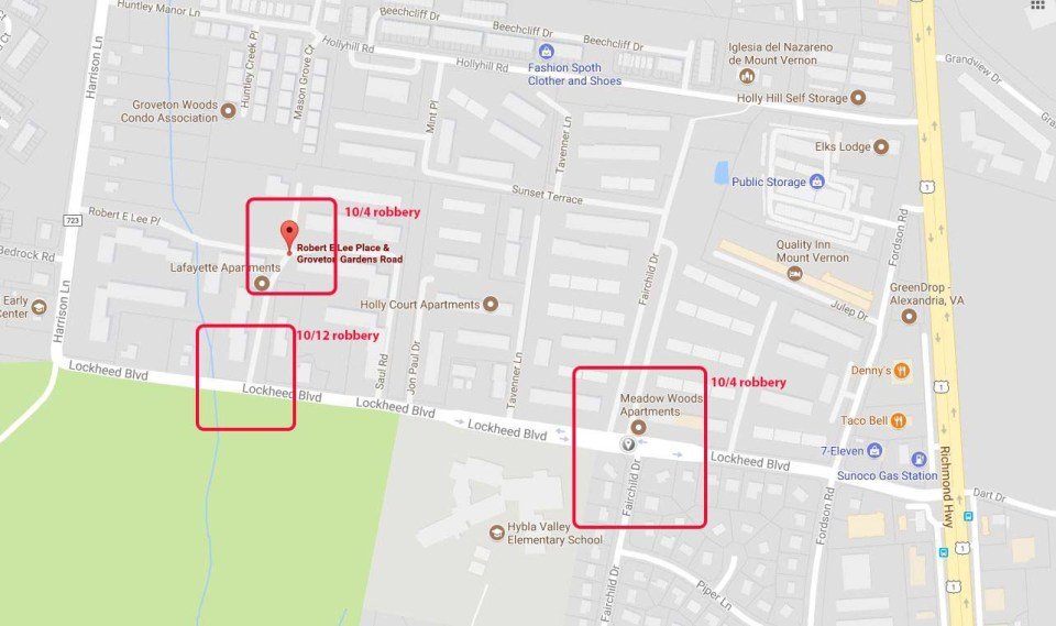 map of robberies