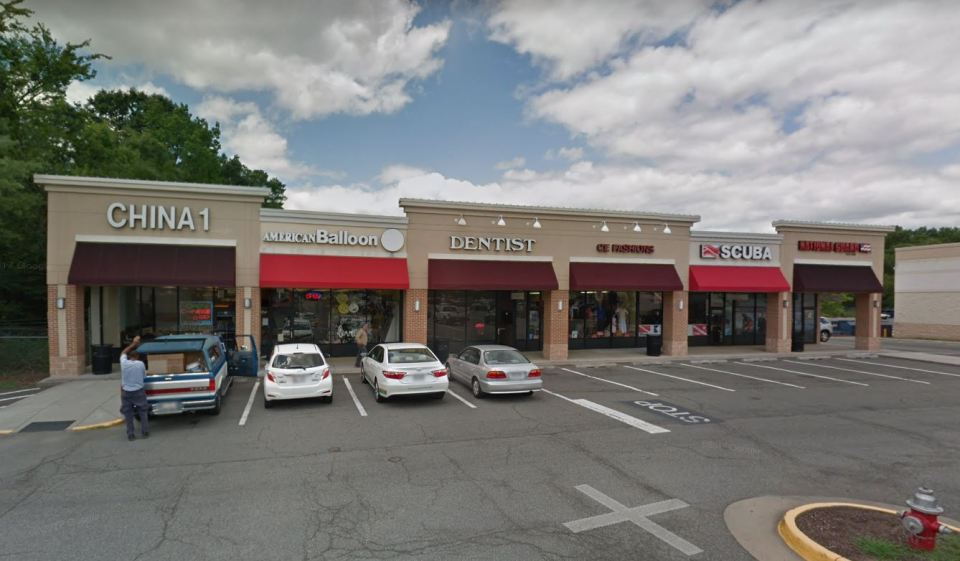 Google maps image of stores