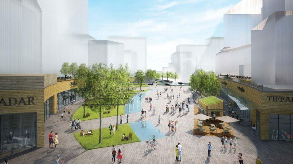 Graphic of Groveton CBC plaza