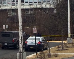 Image of police car near site