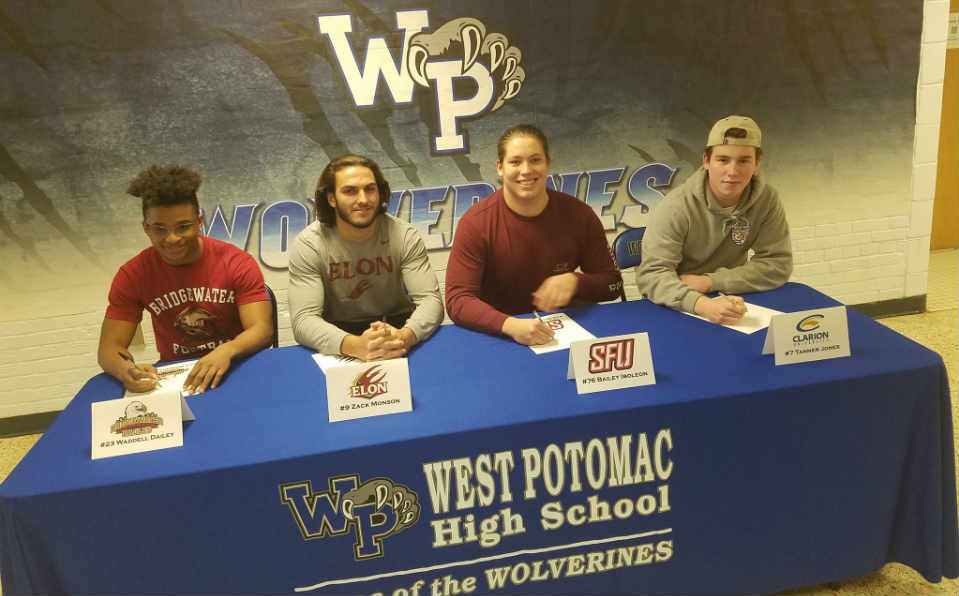 West Potomac players at table