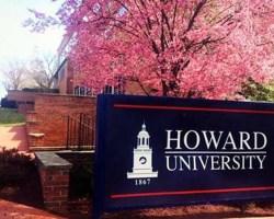 Howard University sign