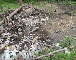 Trash in creek