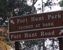 Fort Hunt sign