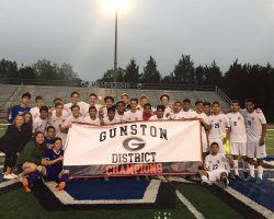 Team picture after Gunston District title