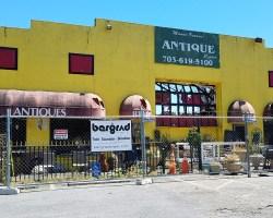 Facade of antique center
