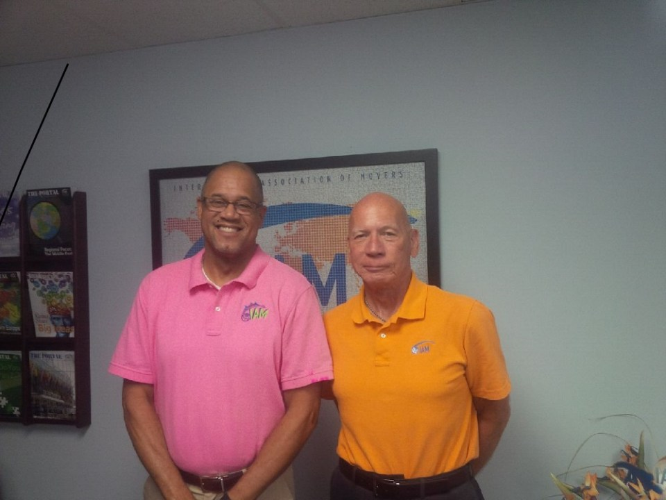 Picture of the president and senior vice president of the International Association of Movers