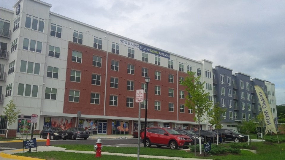 Front view of Belvoir Square Apartments
