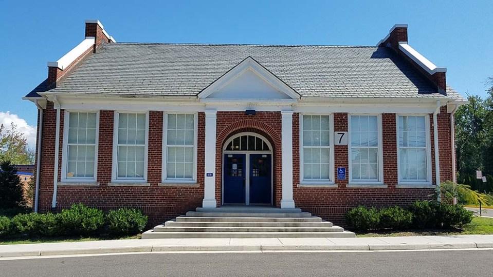 front of brick school building