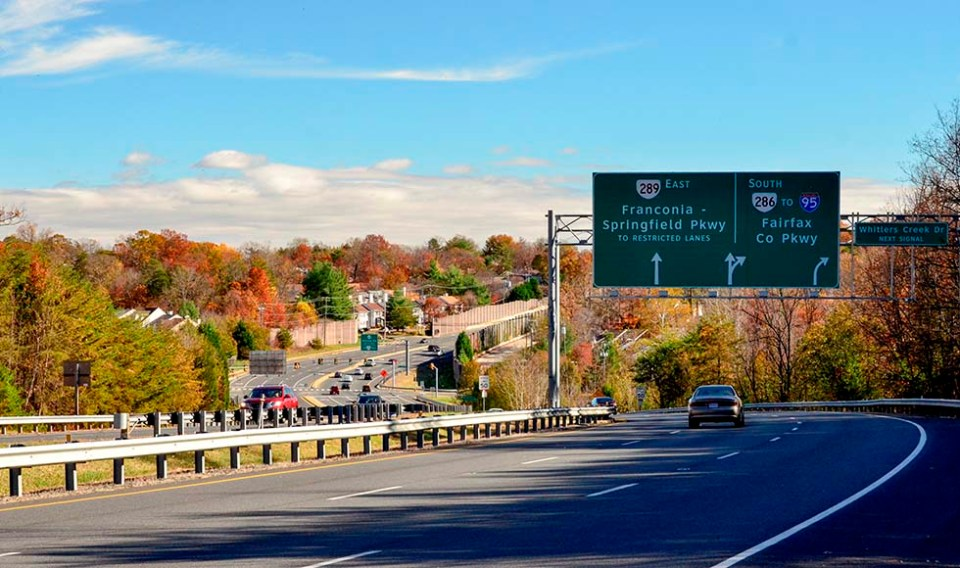 Parkway in the fall