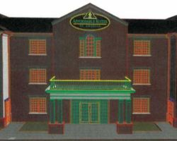 Drawing of front of building