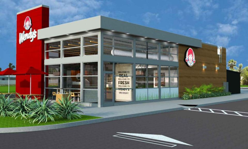 Wendy's exterior in drawing
