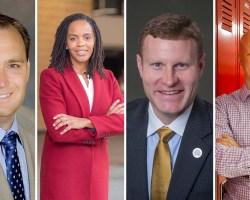 Composite of four candidates