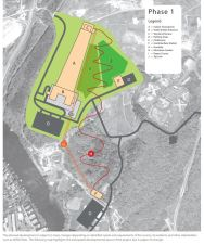 Map of the proposed complex