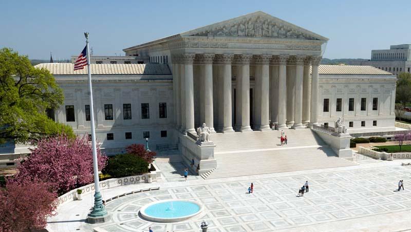 Facade of Supreme Court building