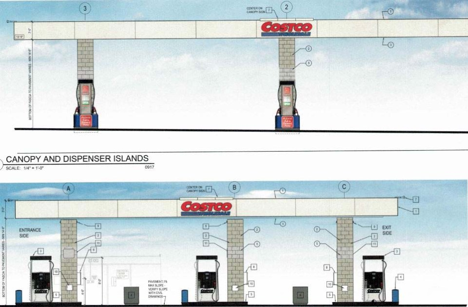 Drawings of what the gas pumping area will look like