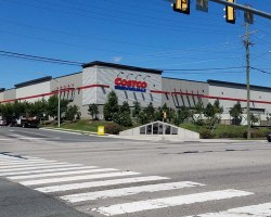 Costco seen from the intersection of Richmond Highway and Ladson Lane
