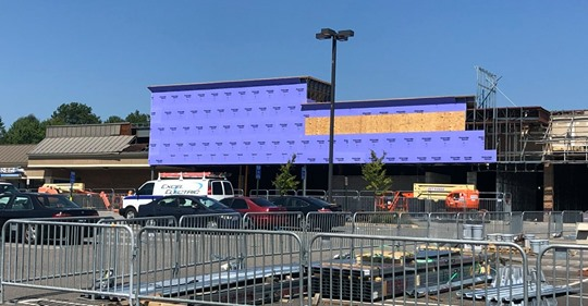 Planet Fitness under construction