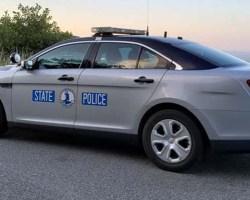 Virginia State Police cruiser in rural area