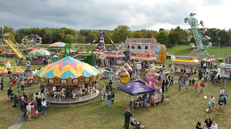 overhead view of fairground from last year's event