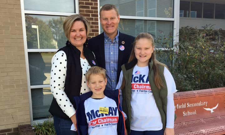 McKay with wife and two kids
