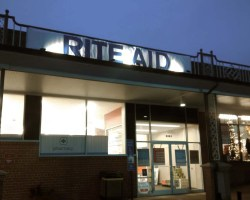 Rite Aid sign above entrance to Hollin Hall store