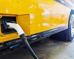 Image of power cord going into side of bus