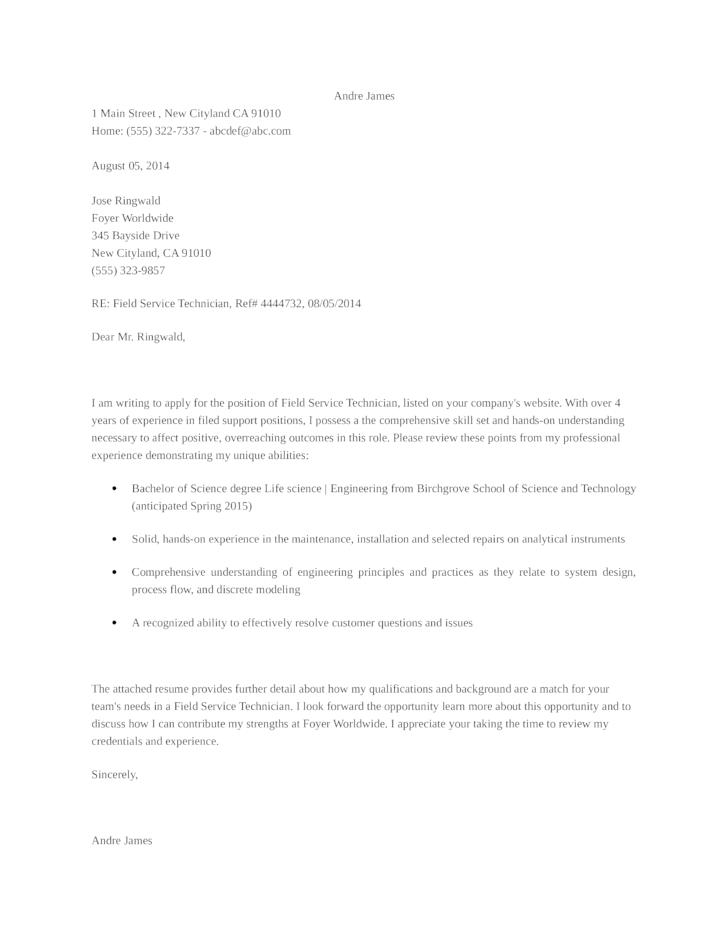 Cover Letter For Application Support | Sample Resume Alif