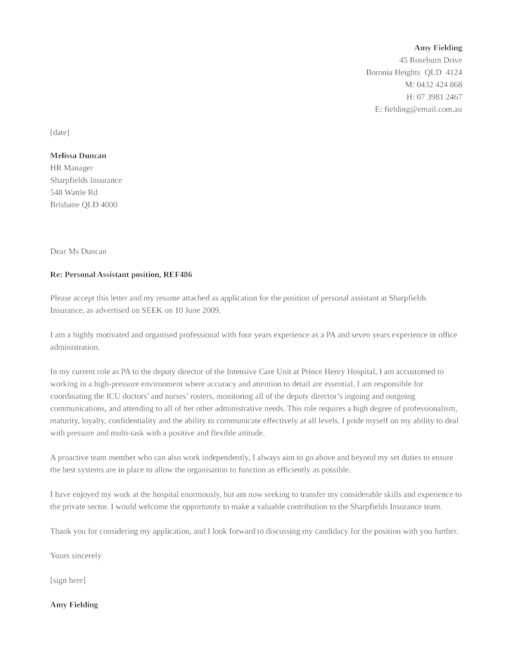 Personal assistant cover letter  thesistypefacewebfc2com
