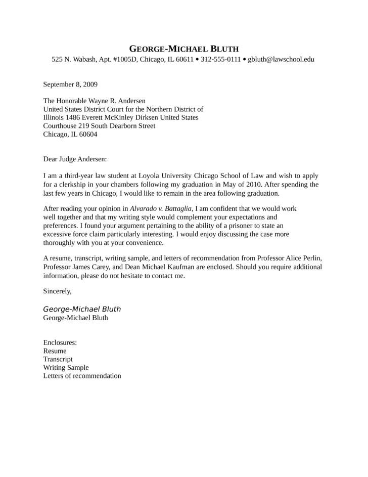 Court Clerk Cover Letter Samples and Templates