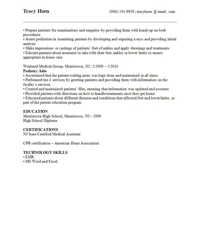 Resume Template 4 (Page 2)