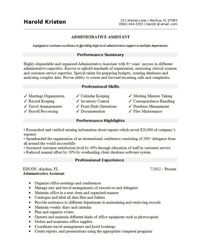 Best Resume Template 2019