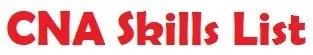 CNA Skills List Logo