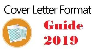 Cover Letter Format 2019